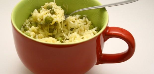 147. Risotto de ervilhas e limão siciliano